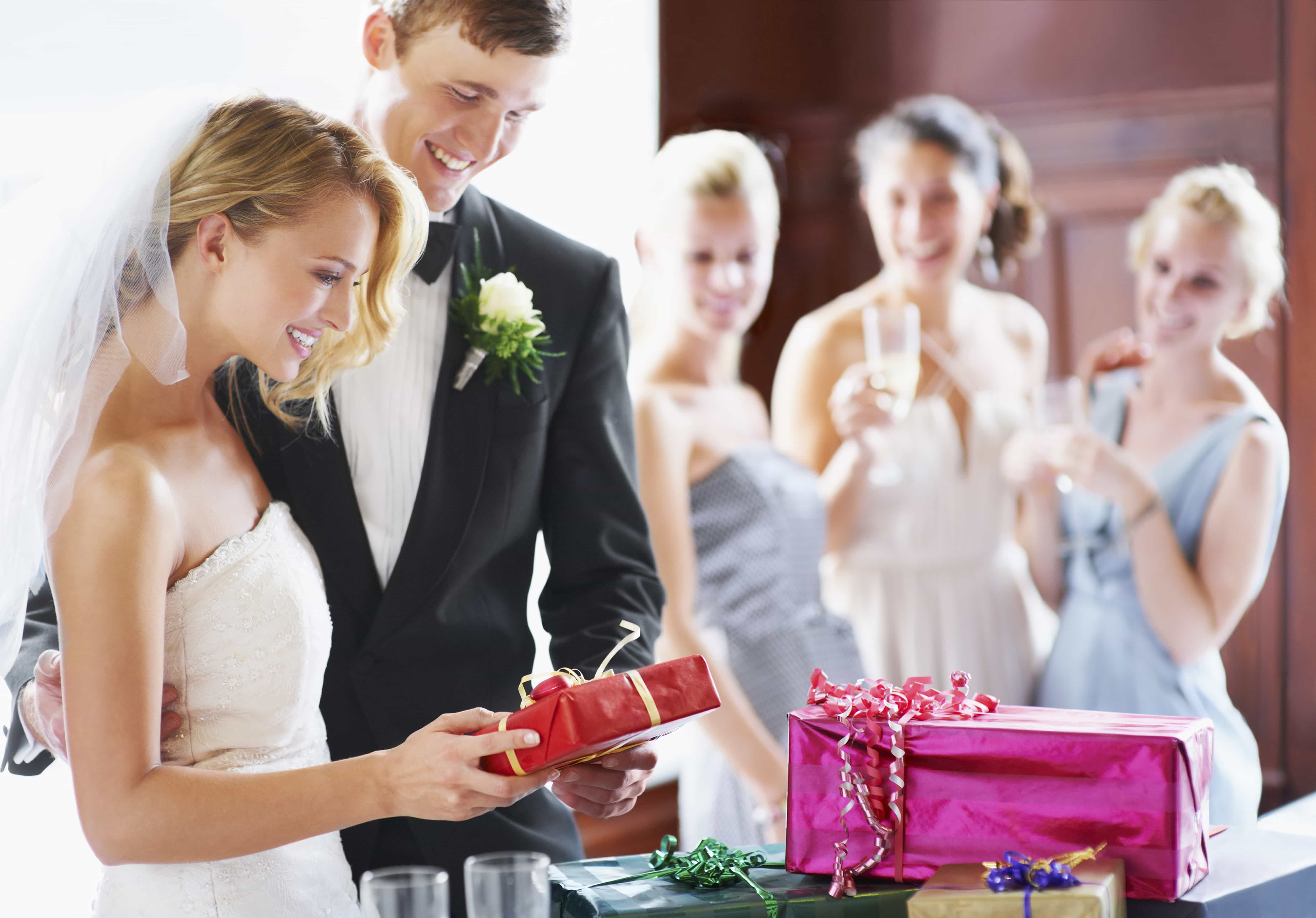 Couple with registry gifts